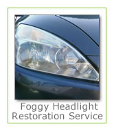 Headlight restoration services