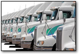 truck fleet on lot