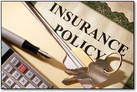 auto insurance policy papers and calculator