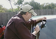 Mark Huckle Repairing a Windshield